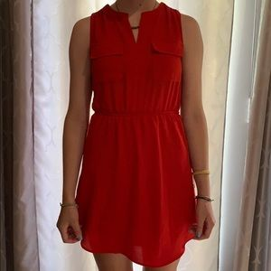Formal red mini dress from Monteau
